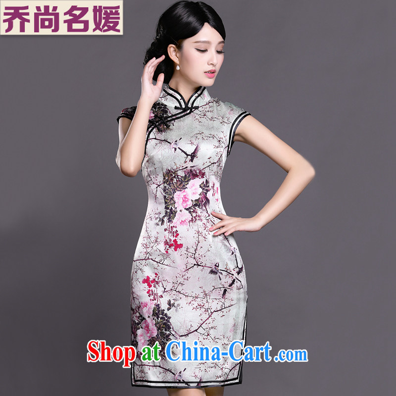 Joe is still name-yuan China cheongsam dress summer style dress ZS 017 white XXL