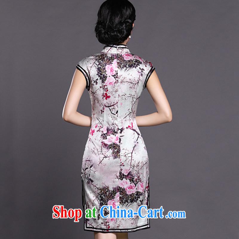 Joe is still name-yuan China cheongsam dress summer style dress ZS 017 white XXL, CHOSHAN LADIES, shopping on the Internet