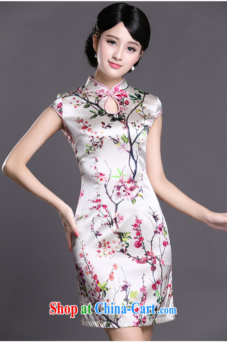 Joe is still name-yuan silk summer new short-sleeved improved cheongsam dress ZS 025 white S pictures, price, brand platters! Elections are good character, the national distribution, so why buy now enjoy more preferential! Health