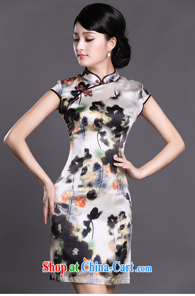 Joe is still name-yuan Silk Cheongsam temperament improved Tang Women's clothes ZS 030 white XXL pictures, price, brand platters! Elections are good character, the national distribution, so why buy now enjoy more preferential! Health