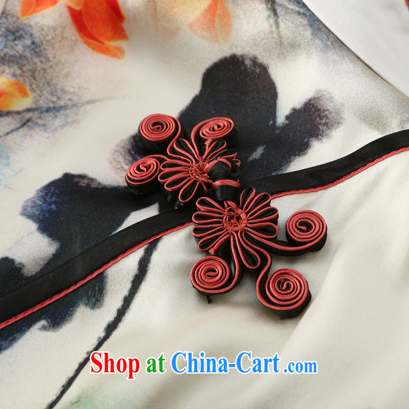 Joe is still name-yuan Silk Cheongsam temperament improved Tang Women's clothes ZS 030 white XXL, CHOSHAN LADIES, shopping on the Internet