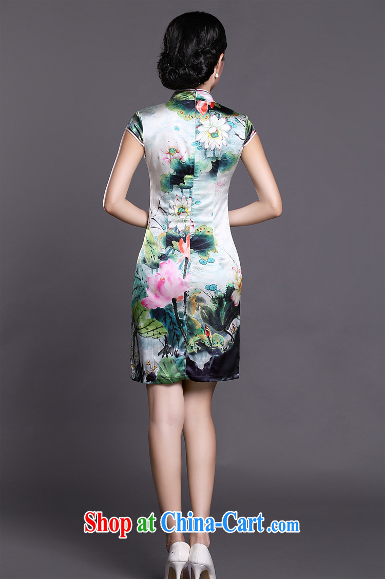 Joe is still name-yuan silk Chinese style qipao improved summer ZS 031 green XXL pictures, price, brand platters! Elections are good character, the national distribution, so why buy now enjoy more preferential! Health