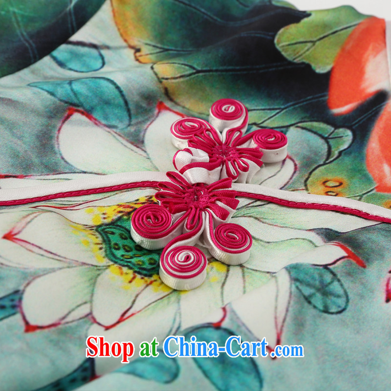 Joe is still name-yuan silk China wind cheongsam improved summer ZS 031 green XXL, CHOSHAN LADIES, shopping on the Internet