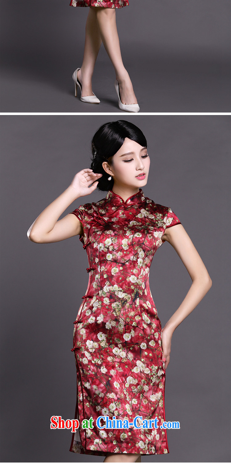 Joe is still name-yuan silk larger dresses dress summer Chinese Dress ZS 037 red XXL pictures, price, brand platters! Elections are good character, the national distribution, so why buy now enjoy more preferential! Health