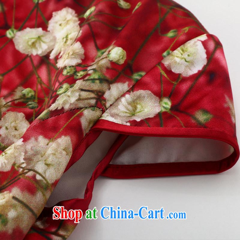 Joe is still name-yuan silk large code cheongsam dress summer Chinese Dress ZS 037 red XXL, CHOSHAN LADIES, and shopping on the Internet