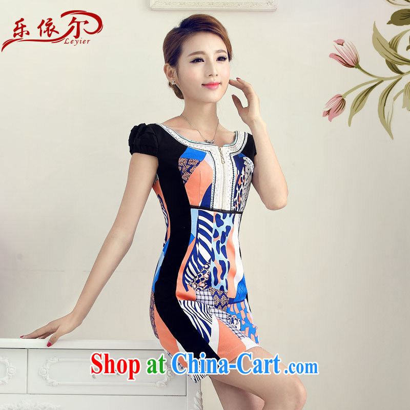 And, in accordance with short sleeves cheongsam dress retro Ethnic Wind cheongsam beauty improved daily cheongsam dress LYE 66,635 fancy XXL