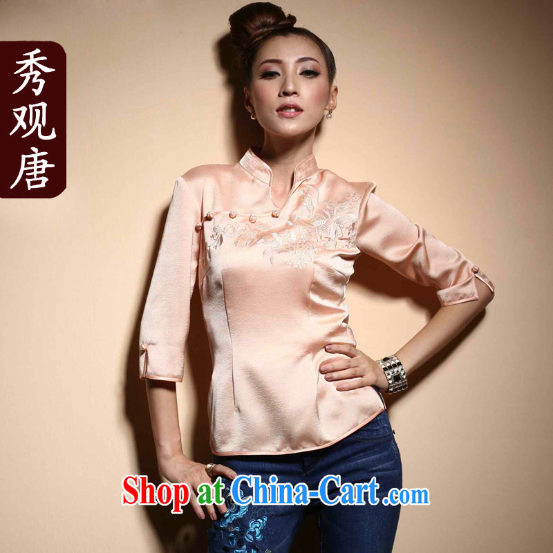 The CYD HO Kwun Tong' smiling Chinese, spring cuff in 2015 China wind girls dresses T-shirt TC XXL 3820
