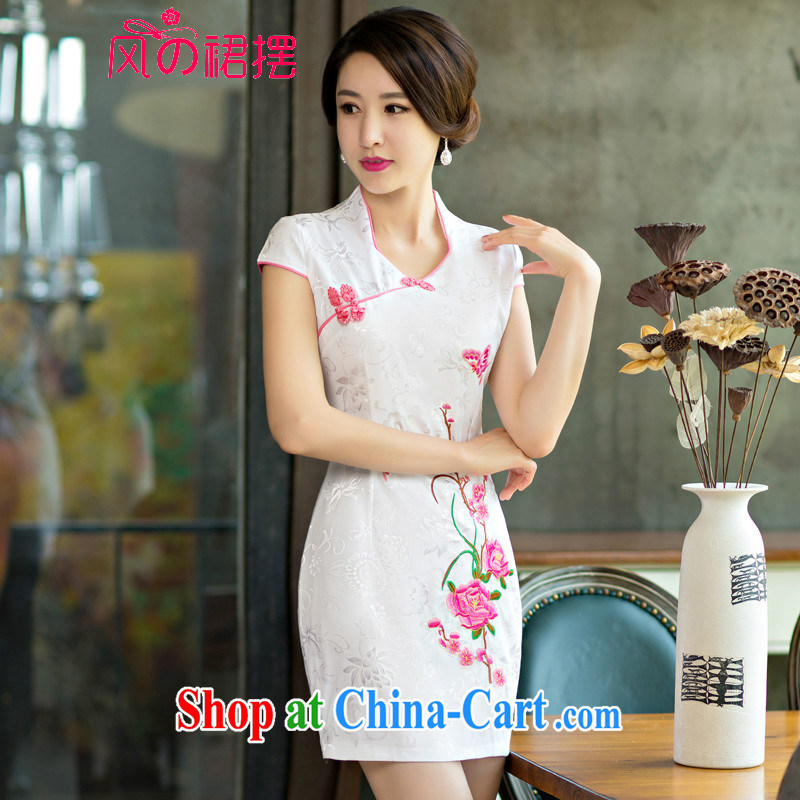 of the wind than the 2015 summer improved female cheongsam dress retro beauty everyday dresses short dresses red XL