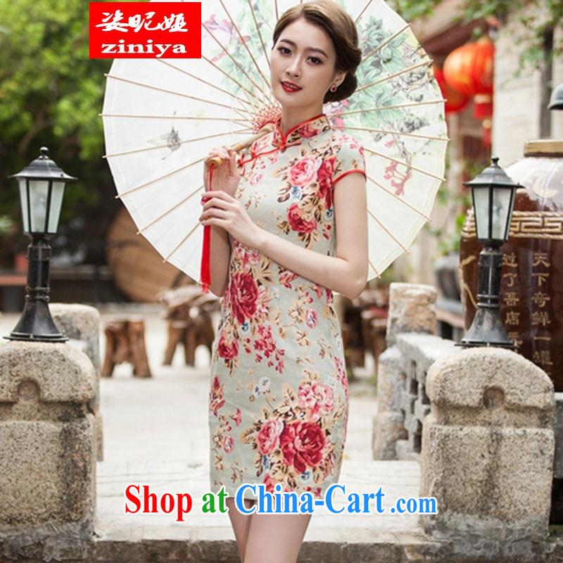 Colorful nickname Julia 2015 spring and summer New Beauty short cheongsam daily improved fashion cheongsam dress suit XL