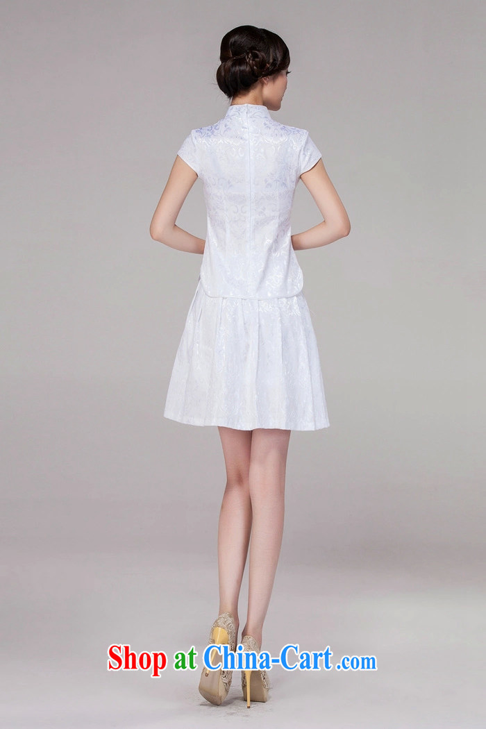 And Cisco's 2015 spring and summer new women Tang with improved daily cheongsam dress retro style modern two-piece with white XXL pictures, price, brand platters! Elections are good character, the national distribution, so why buy now enjoy more preferential! Health