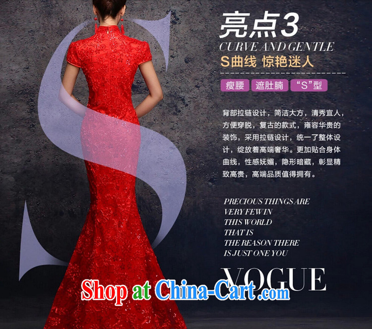 Energy, Philip Li retro improved cheongsam dress summer lace crowsfoot long Chinese bows serving red XXL pictures, price, brand platters! Elections are good character, the national distribution, so why buy now enjoy more preferential! Health