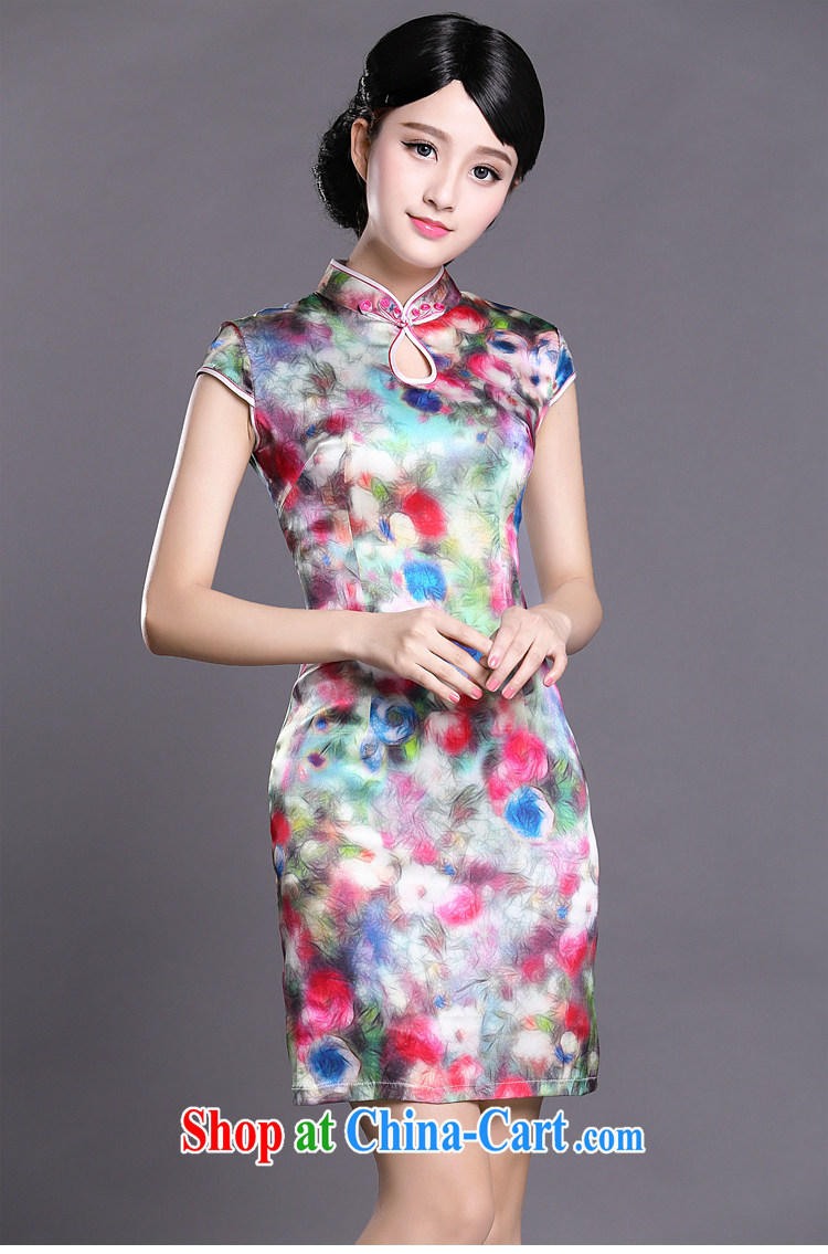 Joe is still name-yuan National wind cheongsam dress silk new improved short-sleeved Tang replace ZS 044 fancy XXL pictures, price, brand platters! Elections are good character, the national distribution, so why buy now enjoy more preferential! Health