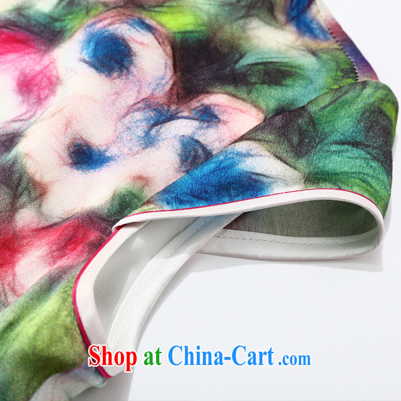 Joe is still name-yuan National wind cheongsam dress silk new improved short-sleeved Chinese 044 ZS XXL suit, CHOSHAN LADIES, shopping on the Internet