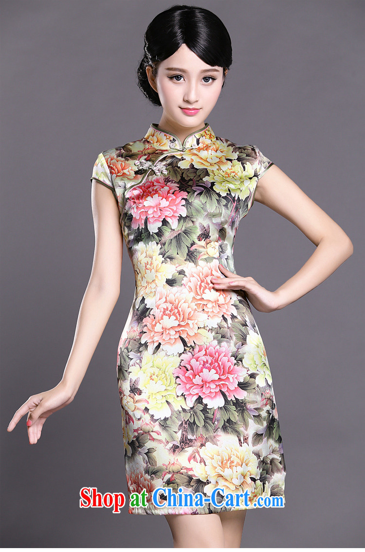 Joe is still a ritual summer new, short-sleeved improved cheongsam dress silk Tang women ZS 045 fancy XXL pictures, price, brand platters! Elections are good character, the national distribution, so why buy now enjoy more preferential! Health