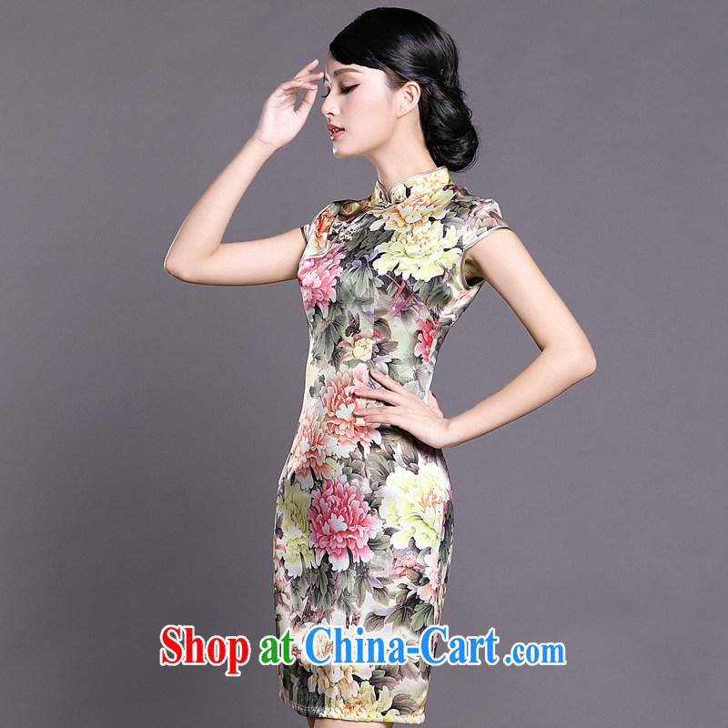 Joe is still a ritual summer new, short-sleeved improved cheongsam dress silk Tang women 045 ZS XXL suit, CHOSHAN LADIES, shopping on the Internet