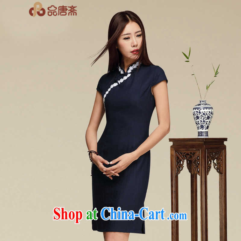 Mr Tang, Id al-Fitr cheongsam dress 2015 new summer improved qipao cotton Ma dresses, cheongsam style dress picture color XL