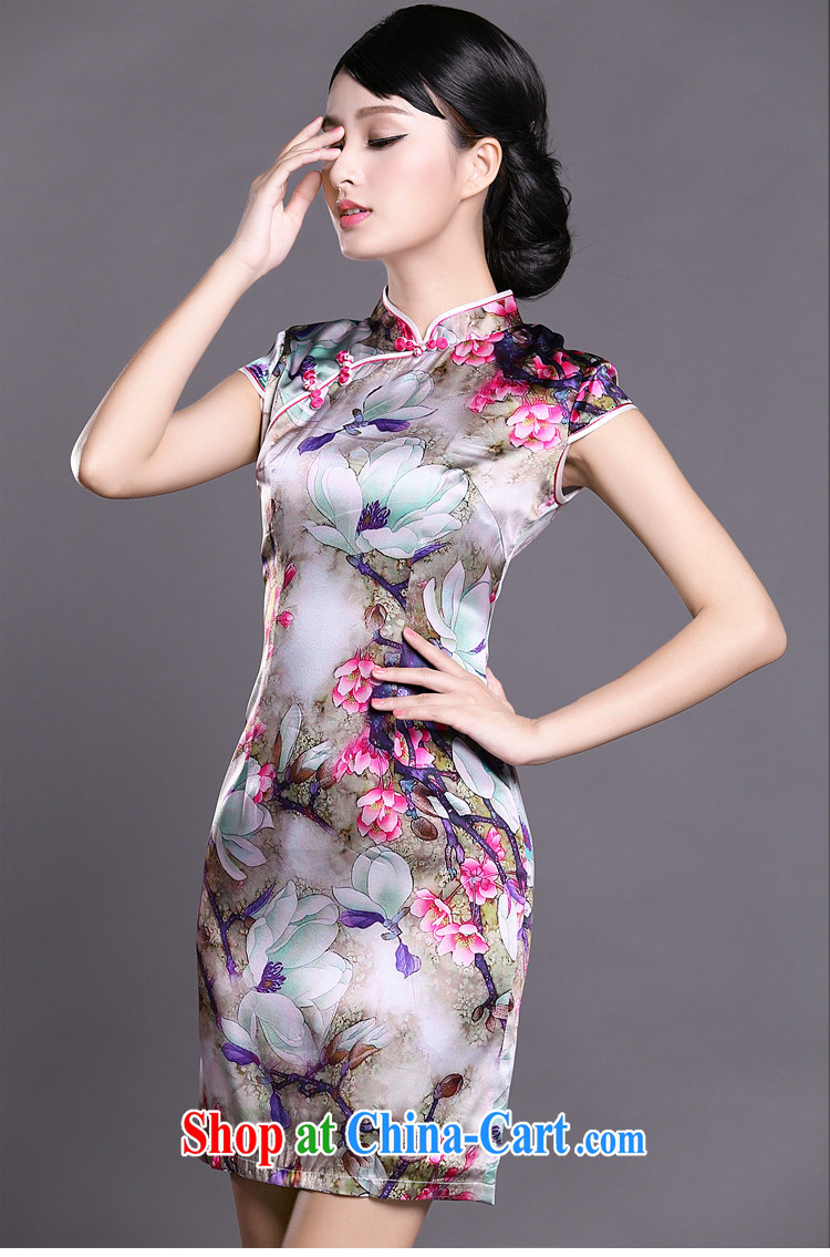 Joe is still name-yuan Chinese wind cheongsam dress summer silk new improved Chinese ZS 046 red XXL pictures, price, brand platters! Elections are good character, the national distribution, so why buy now enjoy more preferential! Health