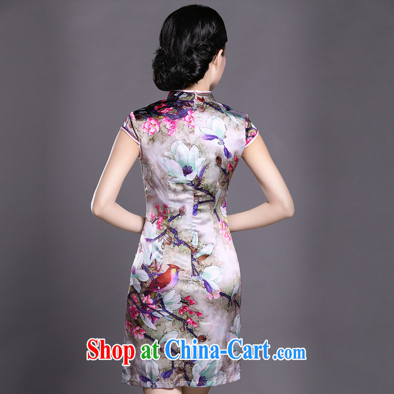Joe is still name-yuan Chinese wind cheongsam dress summer silk new improved Chinese ZS 046 red XXL, CHOSHAN LADIES, shopping on the Internet