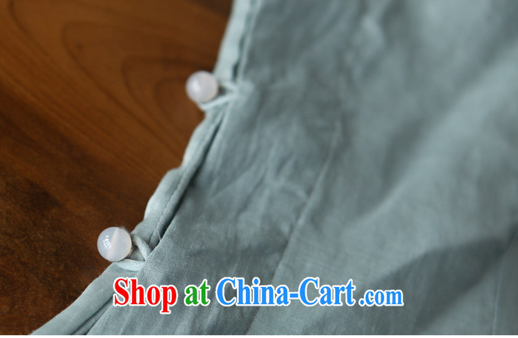 Ask a vegetarian in as soon as possible and girls spring and summer new, warm-hearted pixel color Chinese T-shirt linen parquet silk shirt 2019 light blue T-shirt $328 L pictures, price, brand platters! Elections are good character, the national distribution, so why buy now enjoy more preferential! Health