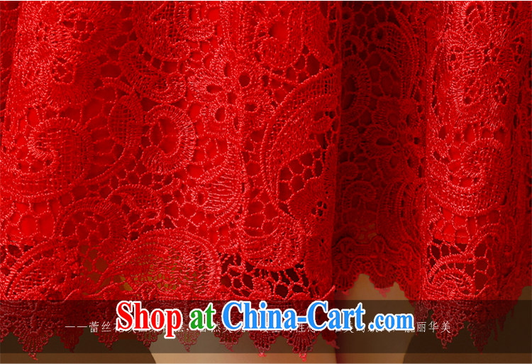 2015 bridal toast serving summer wedding wedding stylish retro lace beauty graphics thin Chinese short bridal dresses red XL pictures, price, brand platters! Elections are good character, the national distribution, so why buy now enjoy more preferential! Health
