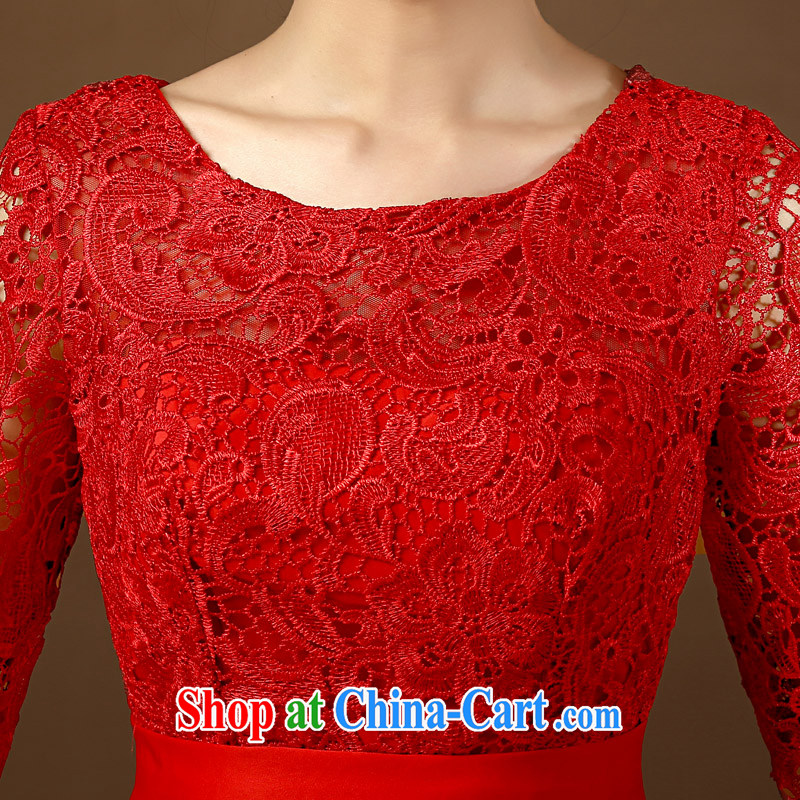 2015 bridal toast. Summer wedding wedding stylish retro lace beauty graphics thin Chinese short bridal dresses red XL, Taylor Martin (TAILEMARTIN), online shopping
