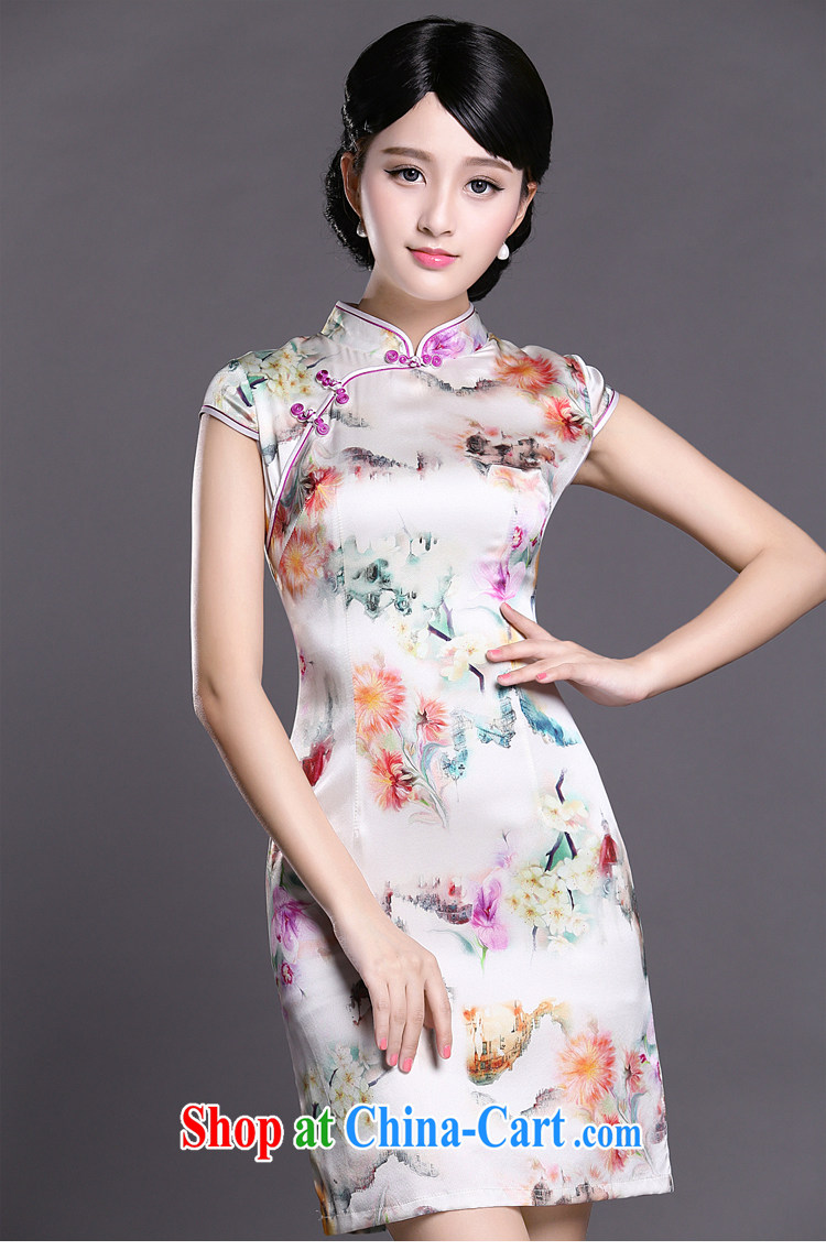 Joe is still name-yuan cheongsam dress silk summer aura new ethnic wind ZS 048 white XXL pictures, price, brand platters! Elections are good character, the national distribution, so why buy now enjoy more preferential! Health