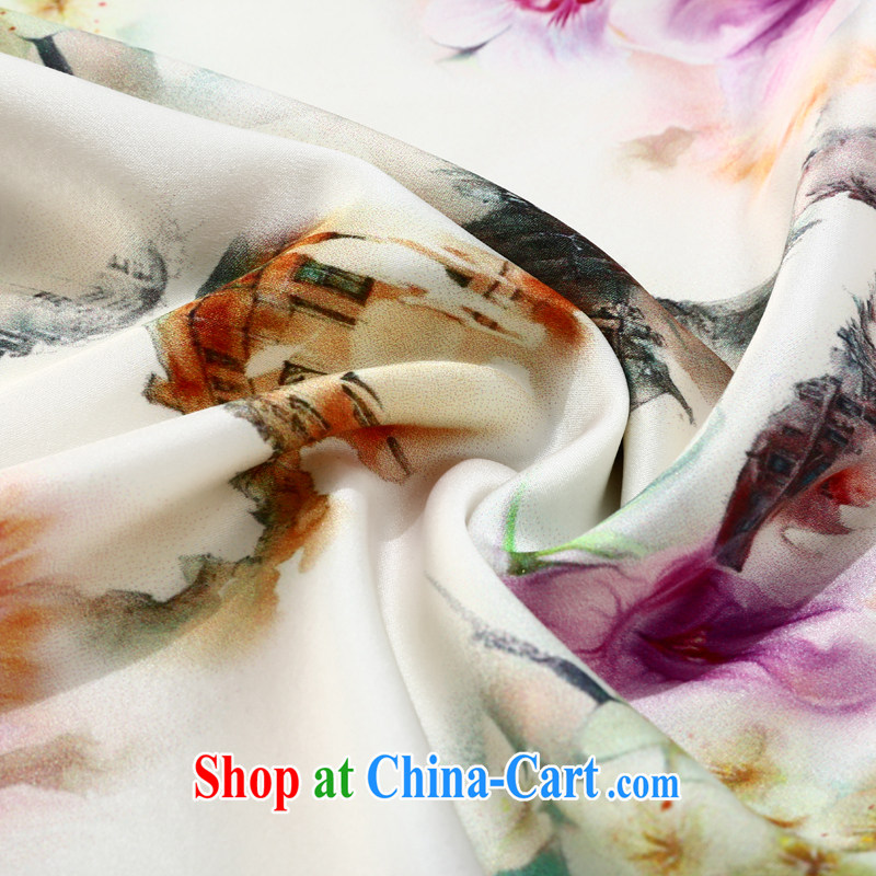 Joe is still name-yuan cheongsam dress silk summer aura new ethnic wind ZS 048 white XXL, CHOSHAN LADIES, shopping on the Internet