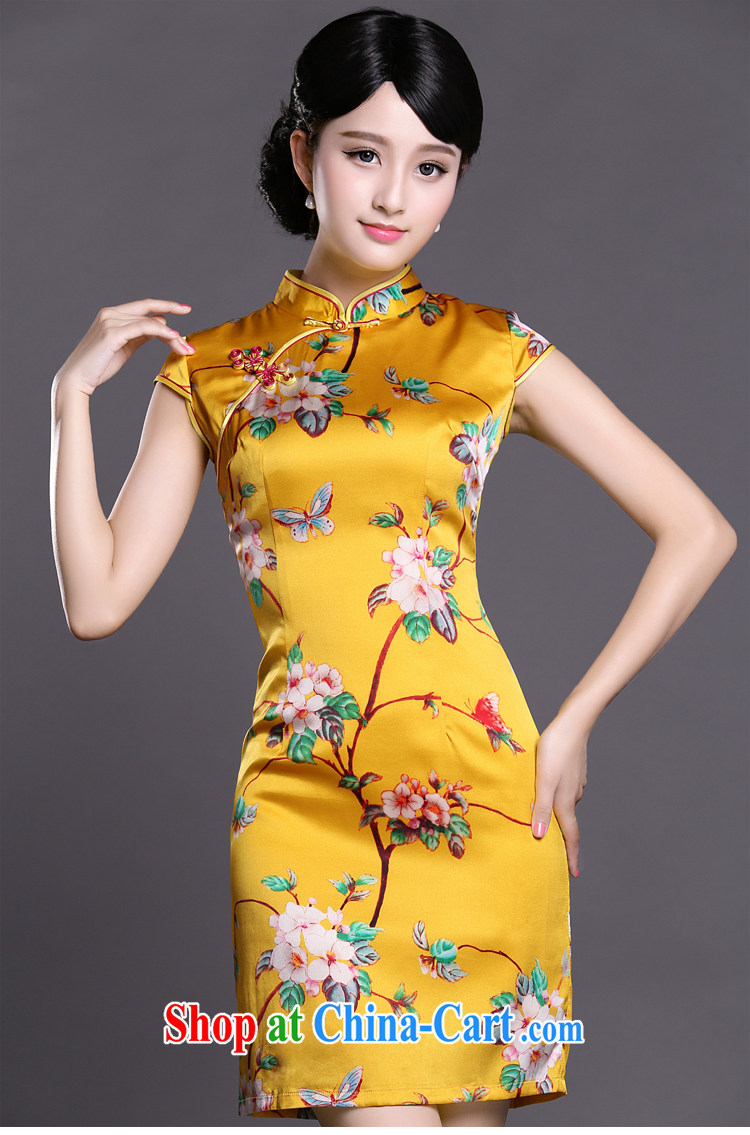 Joe is still a ritual summer new short-sleeved improved Silk Cheongsam dress ethnic wind Tang replace ZS 049 yellow XXL pictures, price, brand platters! Elections are good character, the national distribution, so why buy now enjoy more preferential! Health