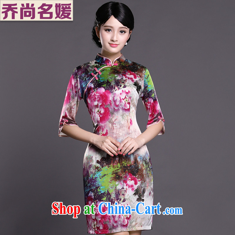 Joe is still a ritual cuff in cheongsam dress silk Chinese dress of Korea, female ZS 050 fancy XXL