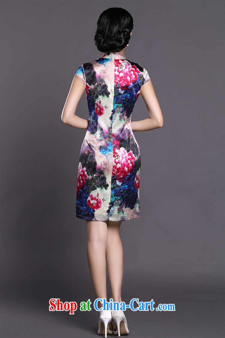Joe is still name-yuan style cheongsam dress silk summer new Chinese Dress ZS 057 red XXL pictures, price, brand platters! Elections are good character, the national distribution, so why buy now enjoy more preferential! Health