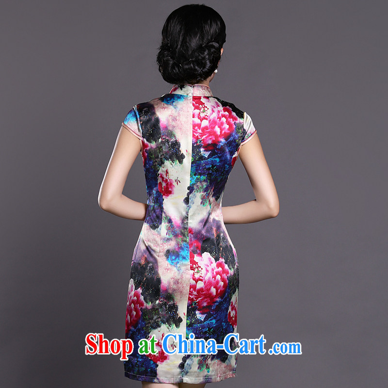 Joe is still name-yuan style cheongsam dress silk summer new Chinese Dress ZS 057 red XXL, CHOSHAN LADIES, shopping on the Internet