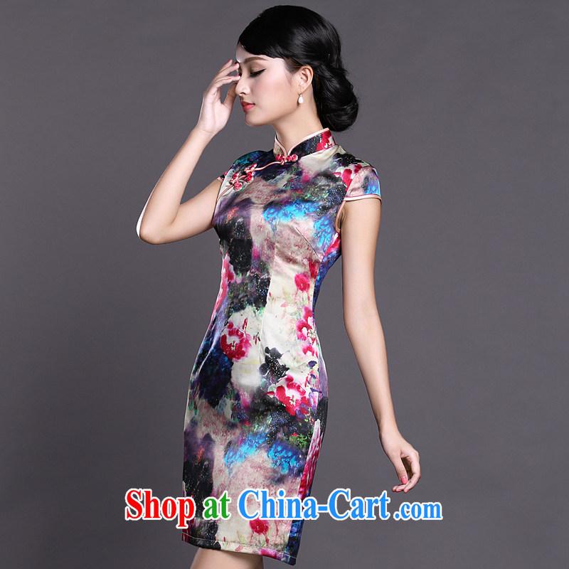 Joe is still name-yuan style cheongsam dress silk summer new Chinese Dress ZS 057 red XXL, CHOSHAN LADIES, shopping on the Internet