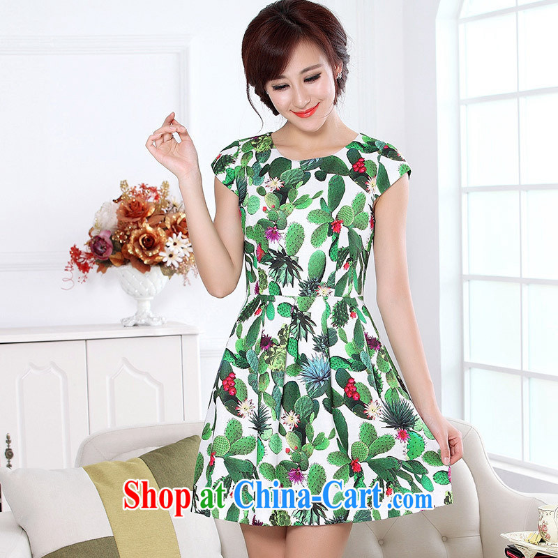 Ya-ting store in summer the maximum code elegance with her mother dresses A Field dress to 5168 green greater code can be made 2 day shipping