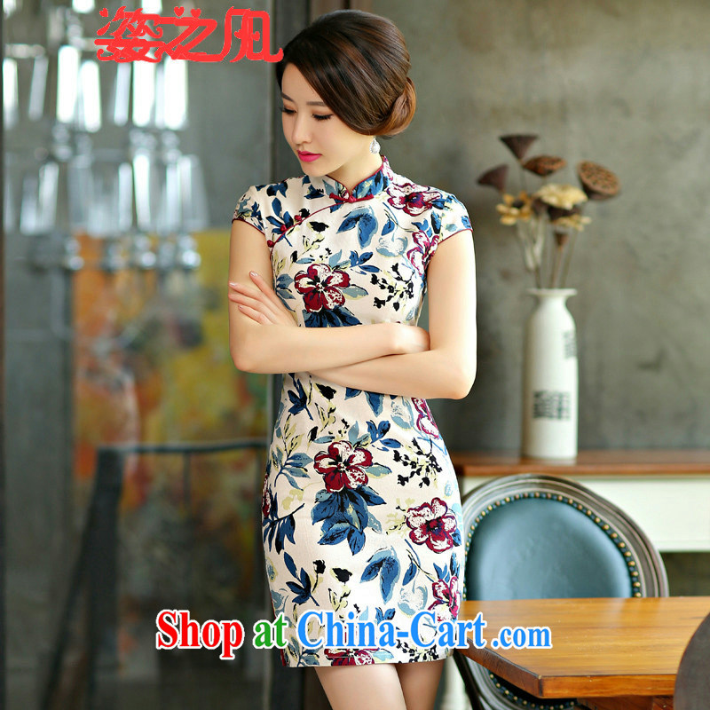 Variety of 2015 where new cheongsam dress summer basket stamp duty the retro improved cultivation short daily outfit fancy XL
