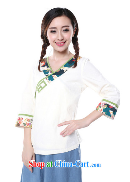 Energy, Philip Li Yau Ma Tei cotton shirt girl painting the Summer New China wind retro improved Han-Chinese White XL pictures, price, brand platters! Elections are good character, the national distribution, so why buy now enjoy more preferential! Health