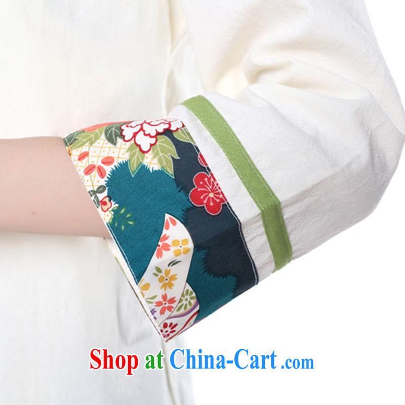 Energy Mr. Philip Li Yau Ma Tei cotton shirt girl painting the Summer New China wind retro improved Han-Chinese White XL, energy, Philip Li (mode file), and, on-line shopping