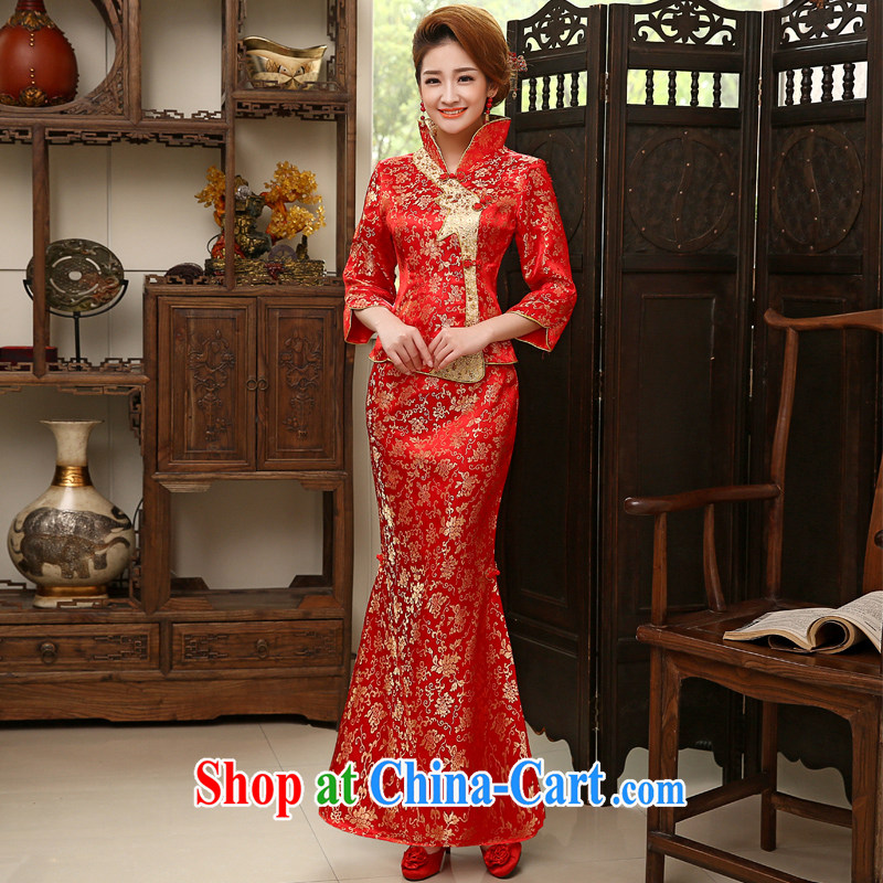 Leigh impression wedding dresses 2015 new marriages served toast red fashion dresses 2008 Q XL