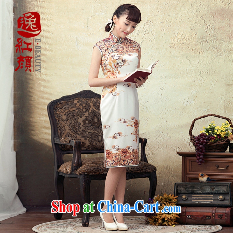 once and for all and fatally jealous dancing phoenix cheongsam dress 2015 new summer standard sauna silk stylish improved cultivation cheongsam dress ? color 2 XL