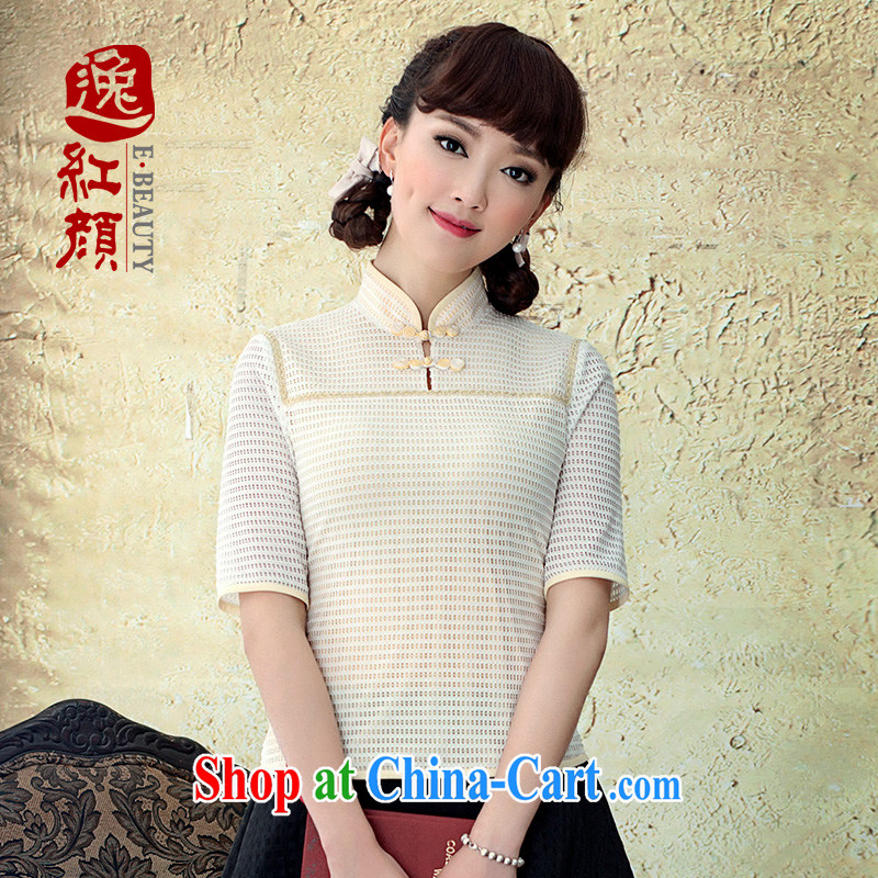 once and for all of our proverbial hero film and 4 sub-cuff Tang fitted T-shirt 2015 summer high-end stretch knitted fabrics T-shirt outfit candled M
