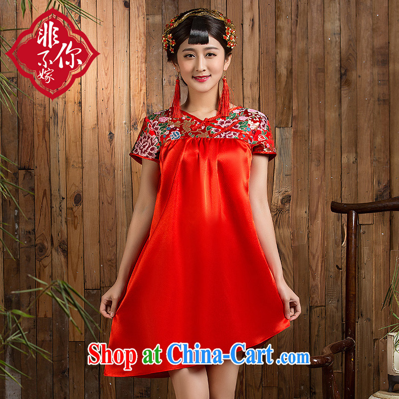 Non-you don't marry spring 2015 new bride improved maternal cheongsam dress code the toast served thick MM wedding dress