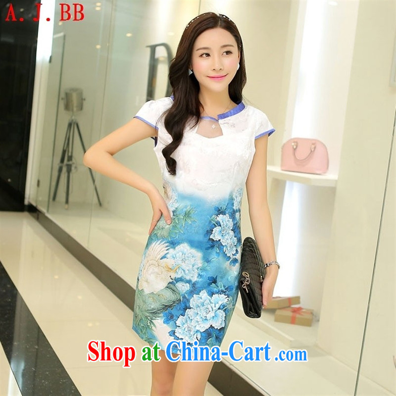 Black butterfly new stylish retro dresses long, silk summer dresses classic ethnic wind beauty graphics thin embroidery yellow XL