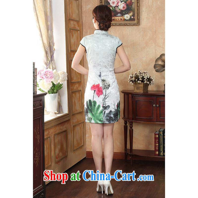 100 brigade Bailv female new digital positioning ethnic wind painting beauty antique dresses B F 1 1028 #0235, white lotus, 100 brigade (Bailv), online shopping