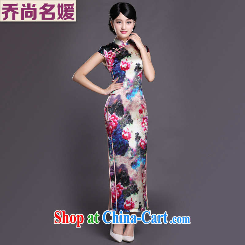 Joe is still a ritual banquet cheongsam dress long Chinese heavy silk Ethnic Wind CKZS 010 fancy XXL