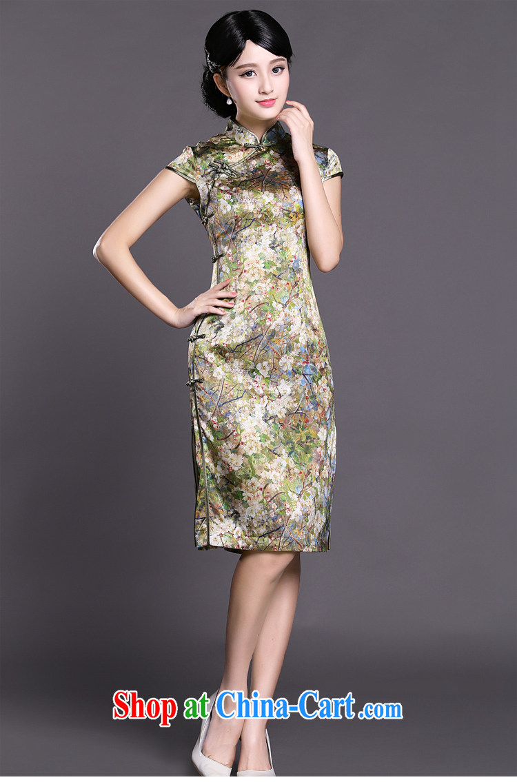 Joe is still name-yuan style cheongsam dress, long, heavy silk summer ZS 034 green XXL pictures, price, brand platters! Elections are good character, the national distribution, so why buy now enjoy more preferential! Health