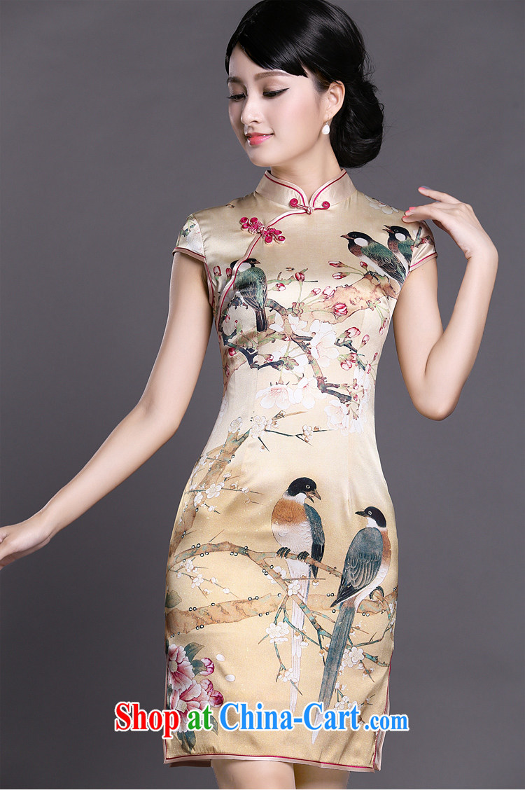 Joe is still a ritual of Korea traditional Silk Cheongsam style Ms. ZS load 040 yellow XXL pictures, price, brand platters! Elections are good character, the national distribution, so why buy now enjoy more preferential! Health