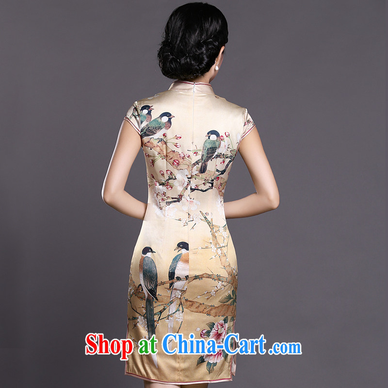 Joe is still a ritual of Korea traditional Silk Cheongsam style Ms. ZS load 040 yellow XXL, CHOSHAN LADIES, shopping on the Internet