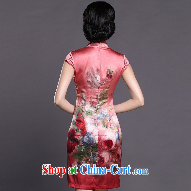 Joe is still a ritual red Silk Cheongsam dress short-sleeved improved Korea wind female ZS 051 red XXL, CHOSHAN LADIES, shopping on the Internet