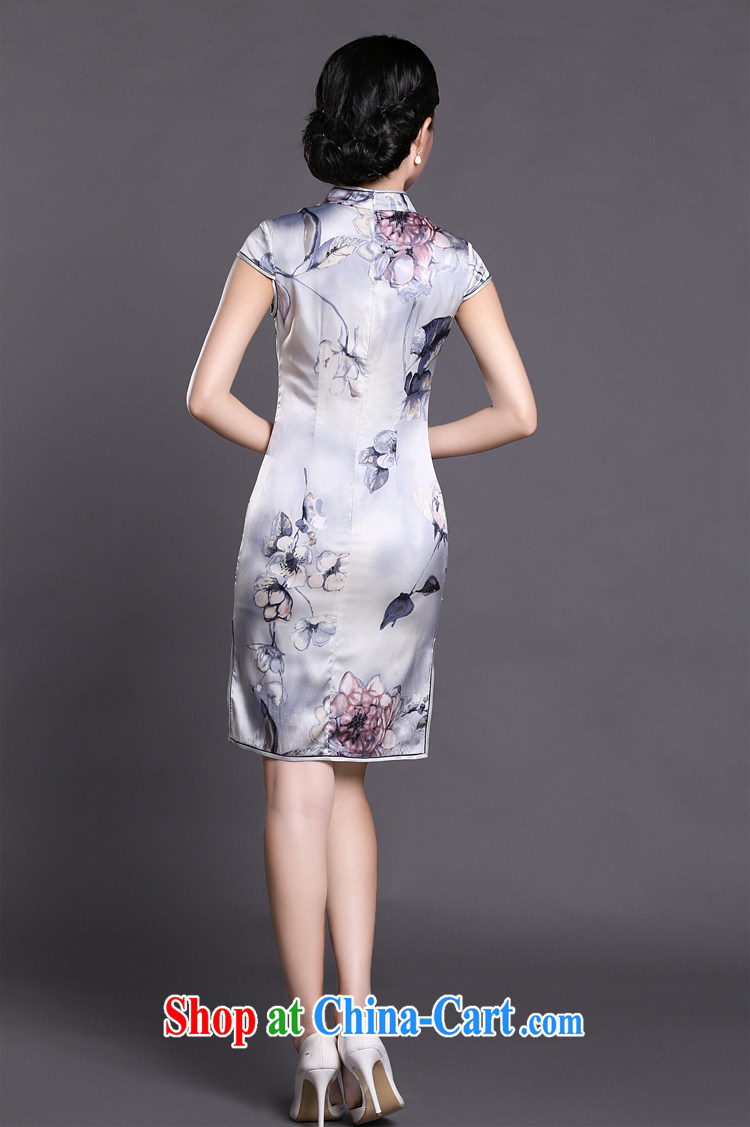 Joe is a Facade pattern style cheongsam dress silk sauna silk improved China wind ZS 053 white XXL pictures, price, brand platters! Elections are good character, the national distribution, so why buy now enjoy more preferential! Health