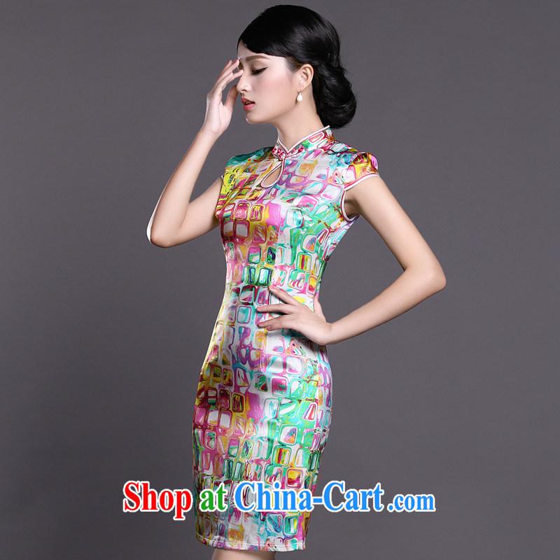 Joe is still a ritual summer new, short-sleeved improved cheongsam dress silk Tang women 055 ZS XXL suit, CHOSHAN LADIES, shopping on the Internet