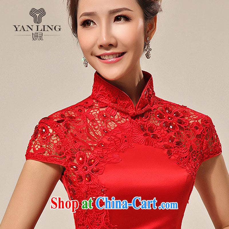 Her spirit 2015 New Red dresses wedding dresses wedding dresses bridal short bows stage dress QP 62 red L, her spirit, and shopping on the Internet